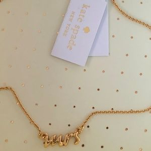 """NWT Kate Spade say yes """"Mrs"""" Necklace"""